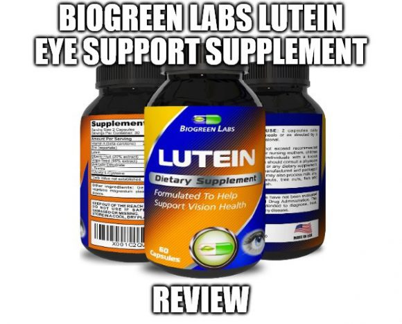 Biogreen Labs Lutein Eye Support Supplement Review